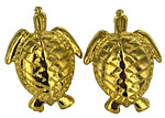 gold sea turtle hatchling earrings
