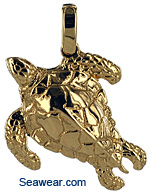 gold sea turtle jewelry necklace pendant