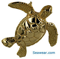 gold sea turtle pendant