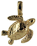 baby green sea turtle pendant or charm