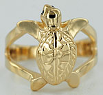crawling baby sea turtle ring