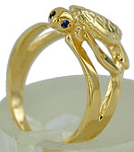 swimming sea turtle ring