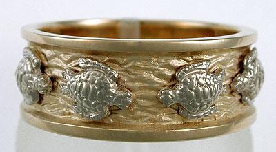 Sea Turtle Wedding Ring