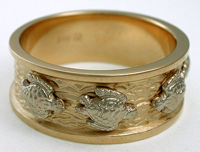 turtle wedding ring