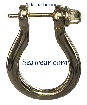 Details about  /14k 14kt Yellow Gold Shackle Link Screw Earrings 15 mm X 3 mm