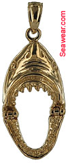 14kt hinged Jaws shark jaw gold charm