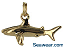 14kt gold full round 3D shark charm