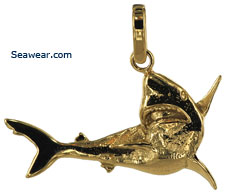 shark jewelry pendant necklace