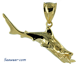shark attaching fish pendant