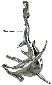 white gold hammerhead shark jewelry necklace