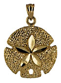 perfect 14kt gold sand dollar
