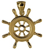 14kt ship steering wheel jewelry charm