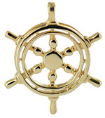 14kt gold yacht wheel
