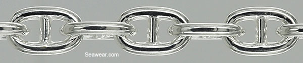 silver alternate mariner anchor link chain