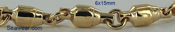 14k fishing swivel bracelet