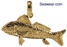 redfish jewelry necklace pendant