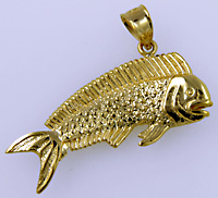 14kt dolphin fish jewelry pendant
