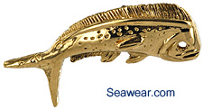 gold bull nose dorado dolphin necklace jewelry pendant