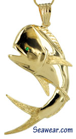 Peter Costello bull nose dolphin fish jewelry pendant