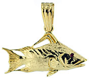 Costello full round small hogfish charm, pendant or earrings