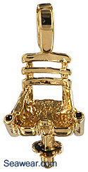 deep sea fishing fighting chair jewelry necklace charm