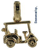 gold golf cart jewelry pendant