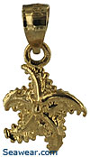 14kt gold baby starfish necklace pendant