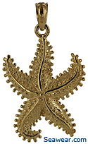 14kt dancing starfish necklace pendant charm