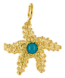 18kt starfish and turquoise