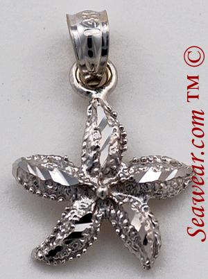 Starfish jewelry 14kt white gold starfish jewelry pendant mozeypictures Choice Image