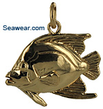 French angelfish charm or necklace pendant