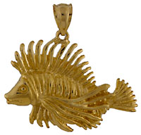 lion fish necklace jewelry