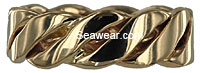 triple strand twisted woven wedding ring