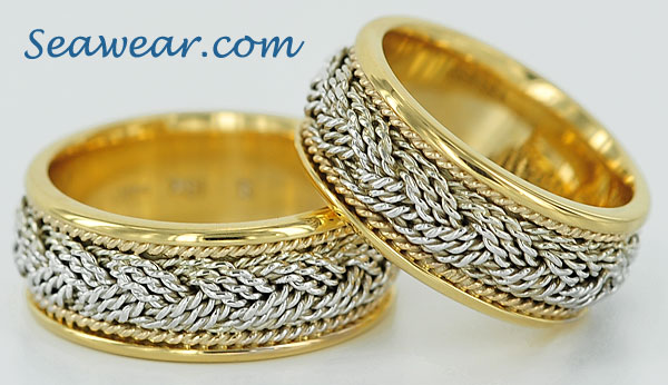 18kt turks head bands