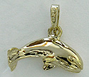gold gray whale jewelry charm