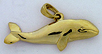 gold grey whale jewelry pendant
