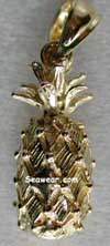 14kt gold pineapple jewelry pendant