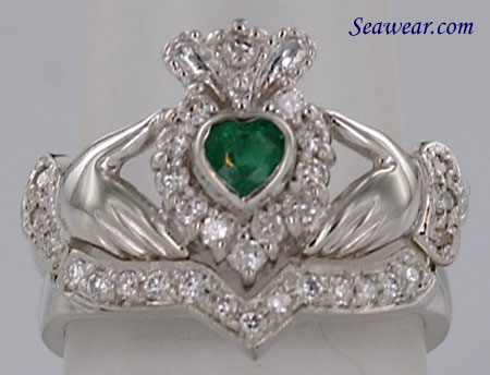 claddagh wedding ring sets claddagh engagement ring 2973