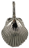 14kt white gold small scallop shell jewelry necklace pendant