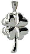 white gold four leaf clover shamrock jewelry